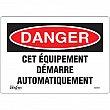 Zenith Safety Products - SGM451 - Équipement Démarre Automatiquement Sign Each