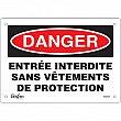 Zenith Safety Products - SGM524 - Entrée Interdite Sign Each