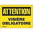 Zenith Safety Products - SGM548 - Visière Obligatoire Sign Each