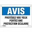 Zenith Safety Products - SGM555 - Enseigne «Protégez vos Yeux» Chaque