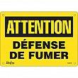 Zenith Safety Products - SGM585 - Défense De Fumer Sign Each