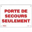 Zenith Safety Products - SGM662 - Porte De Secours Sign Each