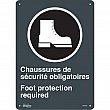 Zenith Safety Products - SGM686 - Chaussures de Sécurité / Foot Protection CSA Safety Sign Each