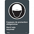 Zenith Safety Products - SGM697 - Hard Hats Required Sign Each