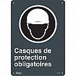 Zenith Safety Products - SGM702 - Casques De Protection Obligatoires Sign Each