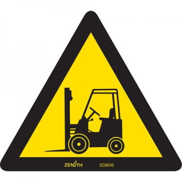 Zenith Safety Products - SGN045 - Forklift CSA Safety Sign Each