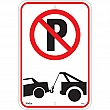 Zenith Safety Products - SGP342 - No Parking Tow Away Zone Sign Each