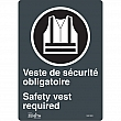 Zenith Safety Products - SGP400 - Port du dossard obligatoire/Safety Vest Required Sign Each