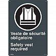 Zenith Safety Products - SGP407 - Port du dossard obligatoire/Safety Vest Required Sign Each